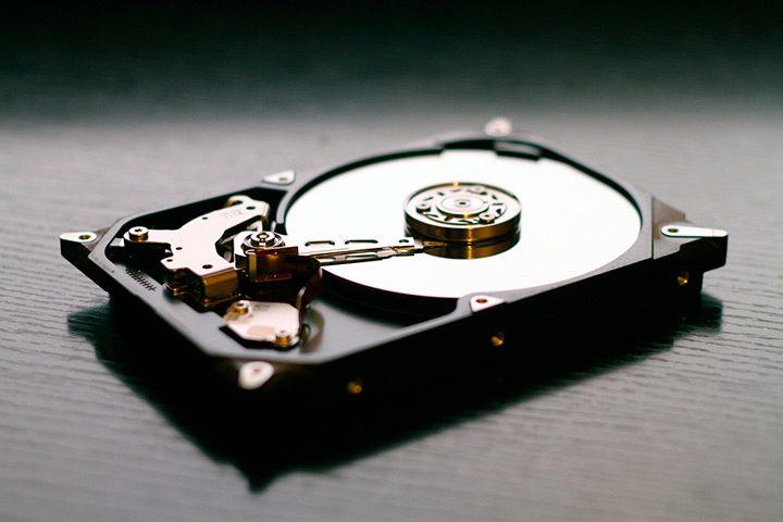 hard disk vedere interioara