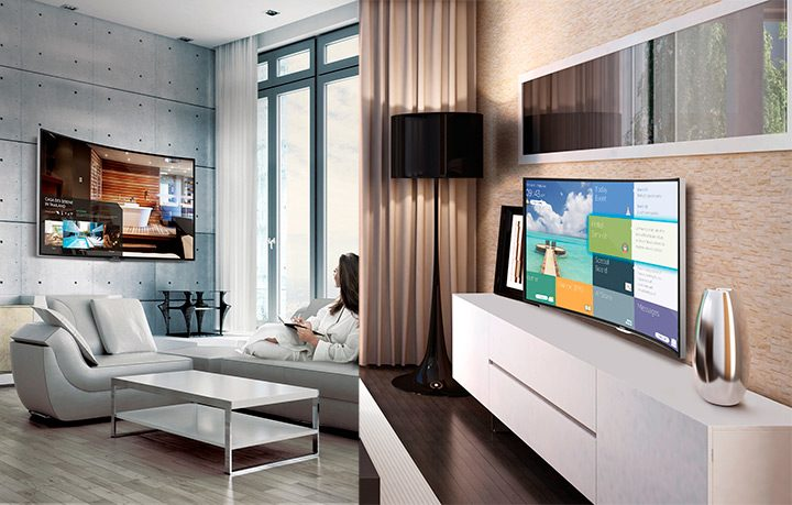 smart tv in sufragerie