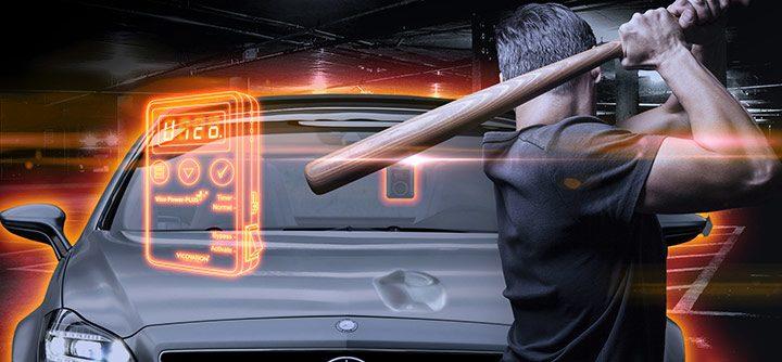 filmare in parcare dashcam auto