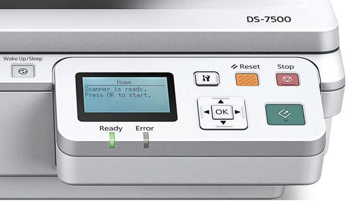 scanner cu panou de control cu ecran LCD