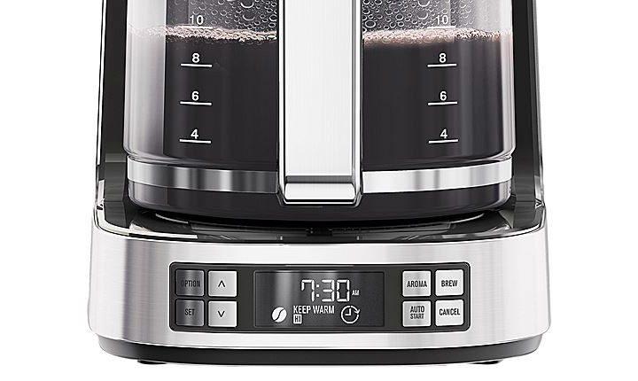 filtru de cafea cu ecran digital