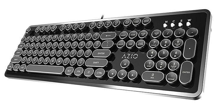 tastatura mecanica cu design retro