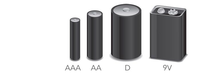 comparatie dimensiune baterii